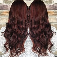 Hairstyles and Beauty: The Internet`s best hairstyles, fashion and makeup pics are here. Hair Color And Cut, Hair Colour, Hairstyles Haircuts, Pretty Hairstyles, Wine Hair, Red Balayage, Auburn Hair, Great Hair, Hair Goals