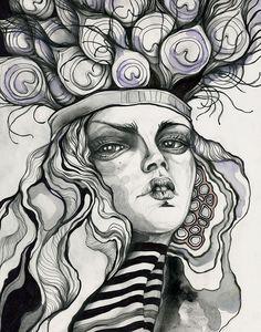 Girls / Sara Blake / 2014    https://www.behance.net/gallery/20589849/Girls-Sara-Blake    http://www.reach.tv/creatives/sara-blake/girls