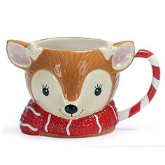 Make teatimes extra magical with this adorable reindeer shaped mug from George Home. With a beautiful hand painted finish, it's made from earthenware and is . Christmas Dishes, Christmas Tea, Retro Christmas, Christmas Stuff, Merry Christmas Typography, Freebies Uk, Uk Deals, Christmas Time Is Here, Shabby