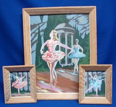 Paint by Number - PBN - Vintage  3pc Moonlite Ballet (Craft Master)  -  FREE SHIP