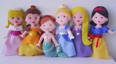 Sue Paula - Linha Feltro: Princesas em feltro