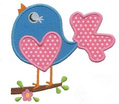 Sassy Bird Applique - 3 Sizes! | Spring | Machine Embroidery Designs | SWAKembroidery.com Applique for Kids