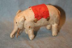 Spun Cotton Antique Christmas Ornament Elephant | eBay