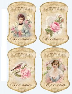Shabby chic labels