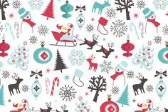 christmas-seamless-pattern_fJ_CeFOO_L fabric by thelambertcompany on Spoonflower - custom fabric