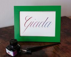 Your Name in Calligraphy  Copperplate card  Nepal by katenotfound #crafters4nepal