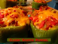 Classic Stuffed Peppers http://www.momspantrykitchen.com/classic-stuffed-peppers.html