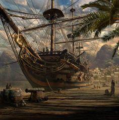 Summer ship Pirate Ships, Pirate Art, Pirate Life, Pirate Woman, Pirates Of The Caribbean, Henry Morgan, Old Sailing Ships, Sailing Boat, Mer Marine