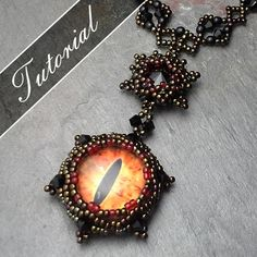 Eye of Sauron Necklace LOTR Inspired 4 di VCArtisanOriginals