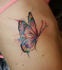 Butterfly tattoo, semicolon butterfly tattoo, small butterfly tattoo, m Butterfly Tattoo On Shoulder, Butterfly Tattoos For Women, Small Butterfly Tattoo, Butterfly Tattoo Designs, Butterfly Colors, Pretty Tattoos, Cute Tattoos, Beautiful Tattoos, Tatoos