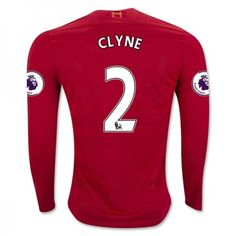 Liverpool 16-17 Nathaniel #Clyne 2 Hjemmebanesæt Lange ærmer,245,14KR,shirtshopservice@gmail.com