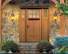 Thermatru Classic Craft American Style Fiberglass Entry Door With Sidelights