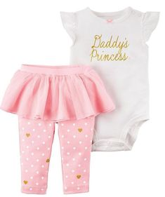 Carter's Baby Girl 2 Piece Bodysuit & Pink Tutu Pant Set 3 9 12 Month NEW Pretty #Carters #Everyday