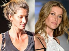 Gisele Bündchen from Stars Without Makeup  The supermodel takes a break and goes sans makeup for the day.