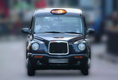 The British Taxi cab also known as a 'black cab' -  official name is a 'Hackney Carriage'.