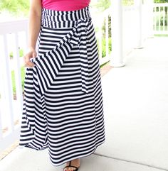 Wrap Maxi Skirt DIY || How to sew an easy women's maxi wrap skirt