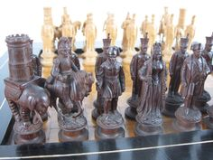 German Napoleon-themed Wooden Set - Jon Crumiller - Picasa Web Albums Chess Set Unique, Art Through The Ages, Chess Sets, Chess Pieces, Tin Toys, Antique Metal, Napoleon, Wood Carving, Hand Carved