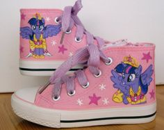 CELIA - Hand painted Children My Little Pony shoes, Princess Twilight Sparkle Any size, color, character and design
