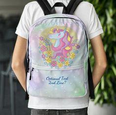 Personalized Unicorn Back Pack, Personalized Unicorn School Bag, Unicorn Gift, Girl's Laptop Backpack, Aqua & Pink Unicorn Backpack by UnicornGiftsFor on Etsy Unicorn Gifts, Laptop Backpack, School Backpacks, School Bags, Unicorns, Aqua, Trending Outfits, Pink, Etsy