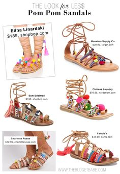 Shop the pom-pom sandal trend inspired by Elina Linardaki's covetable designs - including a Target dupe under $30!