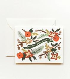 Garland Christmas Card from Rifle Paper Co - framing for seasonal art