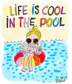 Life is cool in the pool - Blond 2019 Character Concept, Character Art, Concept Art, Character Design, Shabby Chic Christmas, Victorian Christmas, Blue Christmas, Doodle, Valentine Wreath
