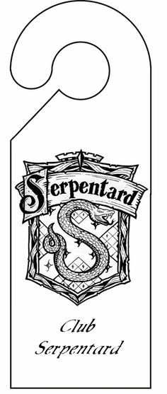 Pancarte De Porte Serpentard Decoupage A Imprimer Coloriage