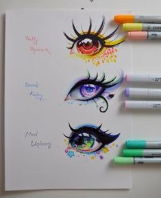 Mythical Creatures - Eye Edition by Lighane Pretty Drawings, Kawaii Drawings, Art Drawings, Beautiful Drawings, Amazing Drawings, Art Sketches, Amazing Art, Manga Eyes, Anime Eyes