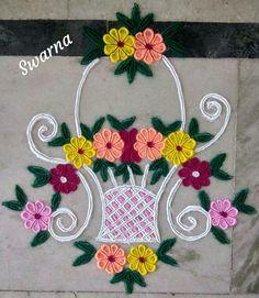 Best Rangoli For Diwali, Rangoli Designs Simple Diwali, Indian Rangoli Designs, Rangoli Designs Flower, Diwali Craft, Rangoli Ideas, Kolam Rangoli, Flower Rangoli, Beautiful Rangoli Designs