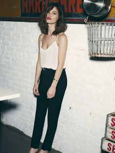 Minimaliist Style: cami top Classic  Fashion pegs: For a Keira knightley Inspired outfit