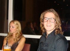 Bård wearing glasses with his wife