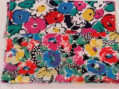 Vintage Primary Color Floral Fabric 4.5 YARDS