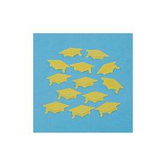Yellow Graduation Hat Confetti - OrientalTrading.com