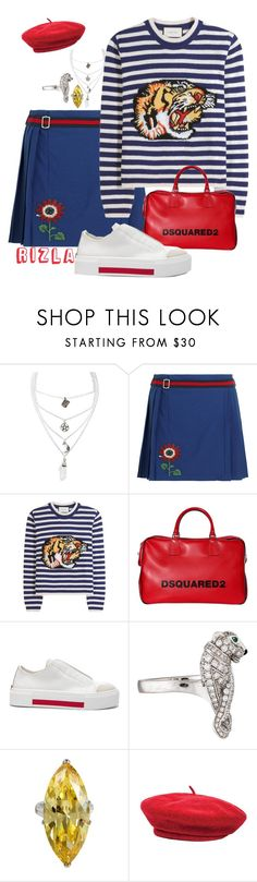 """""""Childi$h"""" by rollinrizla ❤ liked on Polyvore featuring Mysticum Luna, Gucci, Dsquared2, Alexander McQueen and Brixton"""