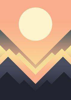 The Sun Rises Art Print by Budi Kwan....peach blues creams=gorgeous! https://society6.com/product/the-sun-rises-f2r_print?curator=jlwojinski