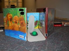 bookends as golf holes - Teen Space at Cascades Library