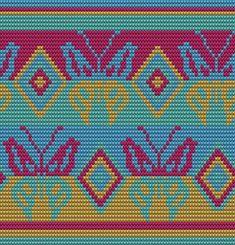 Wayuu Mochila pattern butterfly