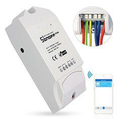 Sonoff Pow WiFi Inalámbrico Interruptor ON/Off 16A Con Medición del Consumo De Energía en Tiempo Real de Electrodomésticos IOS Android Remoto %FULLTEXT https://images-eu.ssl-images-amazon.com/images/I/41chBMqBBuL.jpg