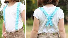 ruffled suspenders