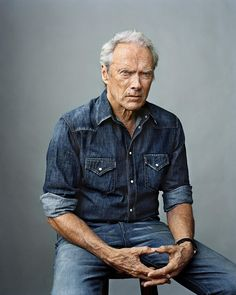 "PHOTO CREDIT: Martin Schoeller / GQ GQ's ""Badass of the Year"" Clint Eastwood is a straight shooter. The actor/director, whose latest film ""Invictus"" tells the true sto… Martin Schoeller, Clint Eastwood, Magazine Gq, Gq Magazine Covers, People Magazine, Neil Patrick, American Actors, Belle Photo, Movie Stars"