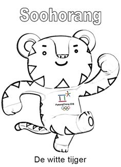 Winter Olympics 2018 Mascot Coloring Page Soohorang, Olympics 2018 Coloring Pages, 2018 Olympics Logo Coloring Pages, Winter Olympics 2018 Coloring Pages, PyeongChang 2018 Winter Olympics Coloring Pages To Print Winter Olympics 2020, Korea Olympics, Winter Olympic Games, Olympic Logo, Olympic Mascots, Olympic Sports, Olympic Colors, Olympic Idea, Pyeongchang 2018 Winter Olympics
