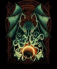 Risultati immagini per qwertee cthulhu Cthulhu Tattoo, Cthulhu Art, Lovecraft Cthulhu, Hp Lovecraft, Call Of Cthulhu, Arte Horror, Horror Art, O Kraken, Dark Fantasy