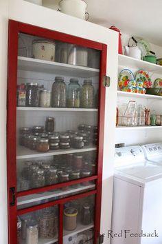 The Red Feedsack: My Laundry Room Is Company Ready!