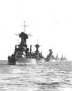 US battle line, 1920s -- USS Colorado, USS Maryland, USS West Virginia, USS Tennessee and three older battleships