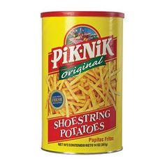 Pik-Nik Shoestring Potatoes ~ I still buy eat potato sticks LD. Retro Recipes, Vintage Recipes, Vintage Food, Sweet Memories, Childhood Memories, 90s Childhood, Kids Growing Up, Potato Skins, Oldies But Goodies