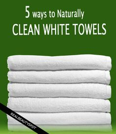 clean, white and Fresh-Smelling towels naturally