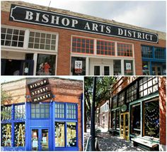 The Bishop Arts District - unique shops & restaurants in Dallas, Texas. More in My Travel Guide to Dallas!