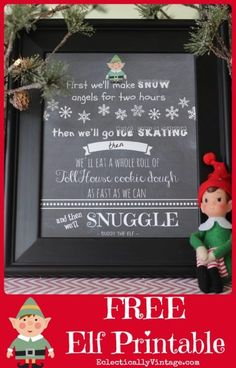 Free Elf Movie printable - cute Christmas gift idea! eclectiallyvintage.com