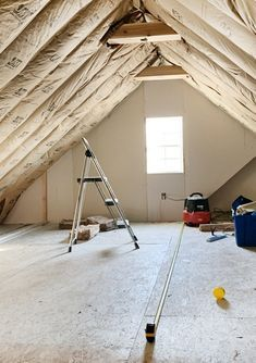 Insulating The Room Over The Garage In 2020 Custom Shutters Attic Attic Rooms