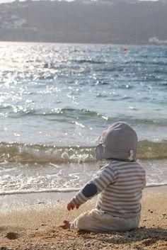 Baby, Stand, Sonnenhut, Meer
